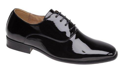 Herren Uniformschuhe Schwarz Lack – Schwarz Lackleder