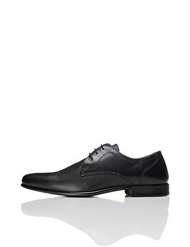 FIND Derby Schuhe Herren mit Struktur und Blockabsatz
